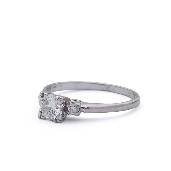 Midcentury Diamond Engagement Ring #VR160915-03 - Leigh Jay & Co.