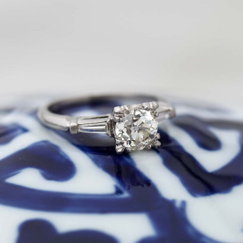 Circa 1930s Diamond Engagement Ring. #VR160920-1 - Leigh Jay & Co.