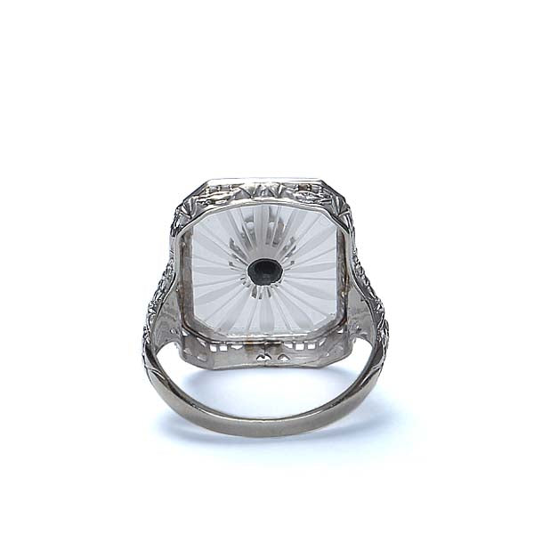 Art Deco Cut Crystal Ring #VR160927-06 - Leigh Jay & Co.
