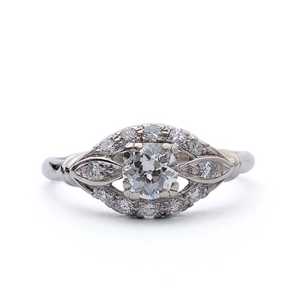 Circa 1940s Diamond engagement Ring. #VR161006-02 - Leigh Jay & Co.
