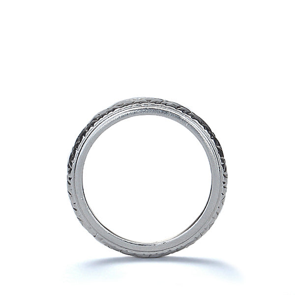 Antique Platinum and Gold Wedding band. #VR161114-01 - Leigh Jay & Co.