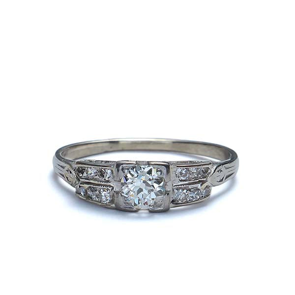 Circa 1920s Diamond Engagement ring #VR161221-01 - Leigh Jay & Co.