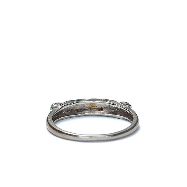 Art Deco Wedding band #VR170119-04 - Leigh Jay & Co.
