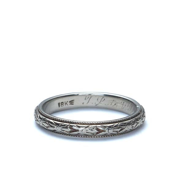 Circa 1926 Wedding band by J.R. Wood & Co. #VR170127-05 - Leigh Jay & Co.