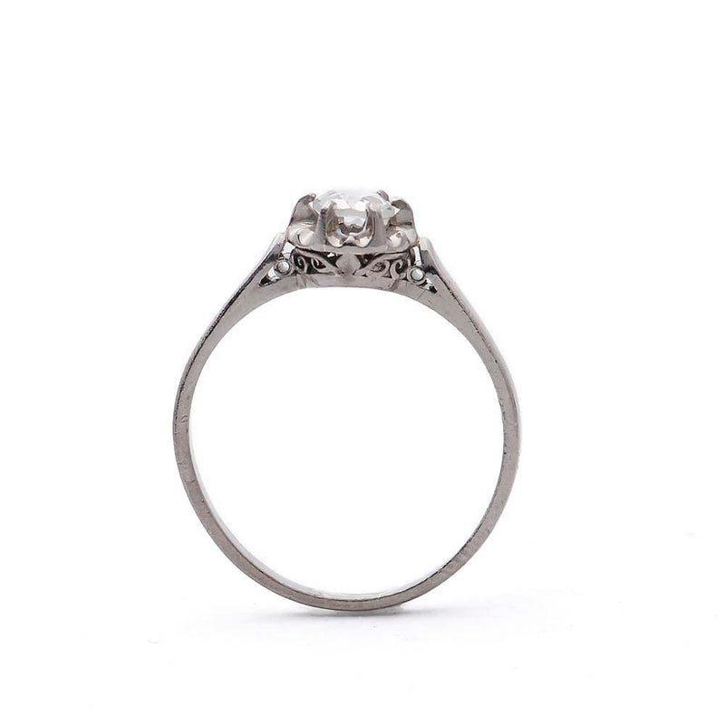 MidCentury Rose Cut Diamond Engagement Ring #VR170302-01 - Leigh Jay & Co.