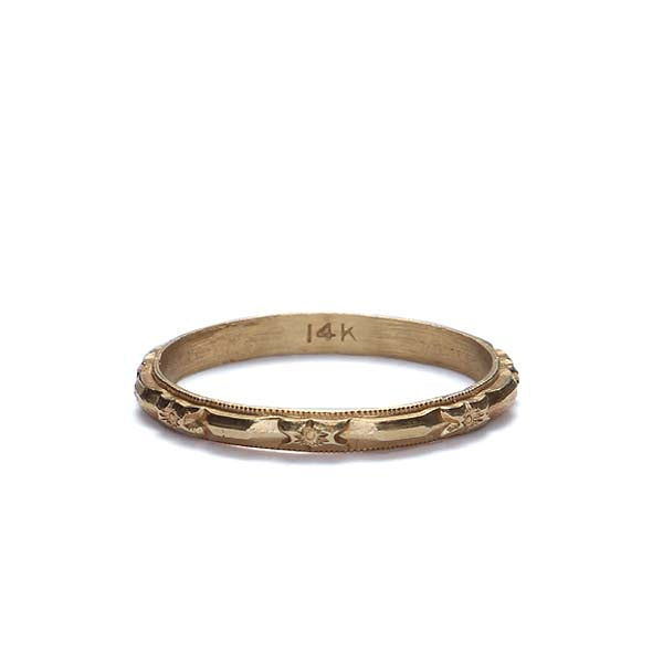 Circa 1940s Wedding band #VR170309-03 - Leigh Jay & Co.