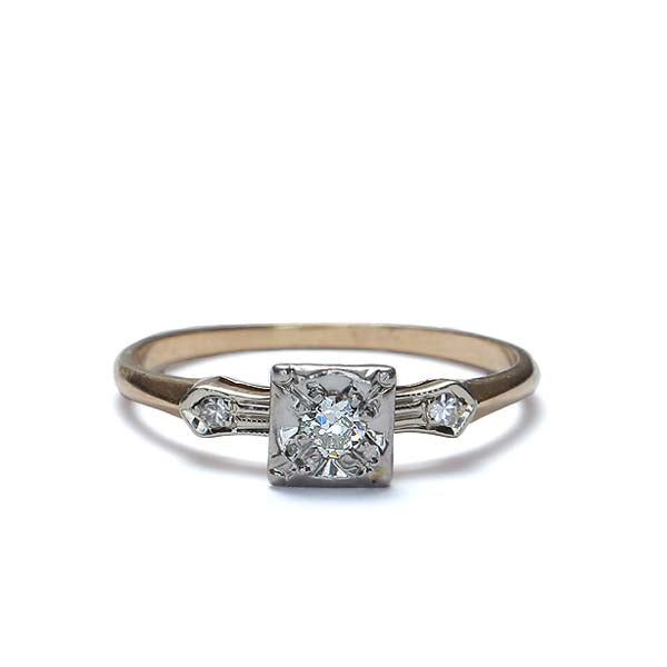 Circa 1930s Diamond Engagement Ring #VR170321-01 - Leigh Jay & Co.