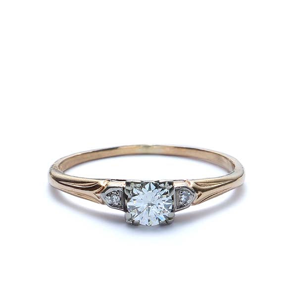 Circa 1940s Engagement Ring #VR170829-22 - Leigh Jay & Co.