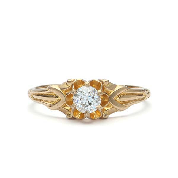 Art Deco Engagement Ring #VR171108-2 - Leigh Jay & Co.