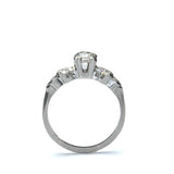 Midcentury Engagement Ring #VR180302-1 - Leigh Jay & Co.