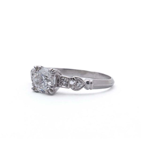 Platinum Art Deco Engagement Ring #VR180310-1 - Leigh Jay & Co.