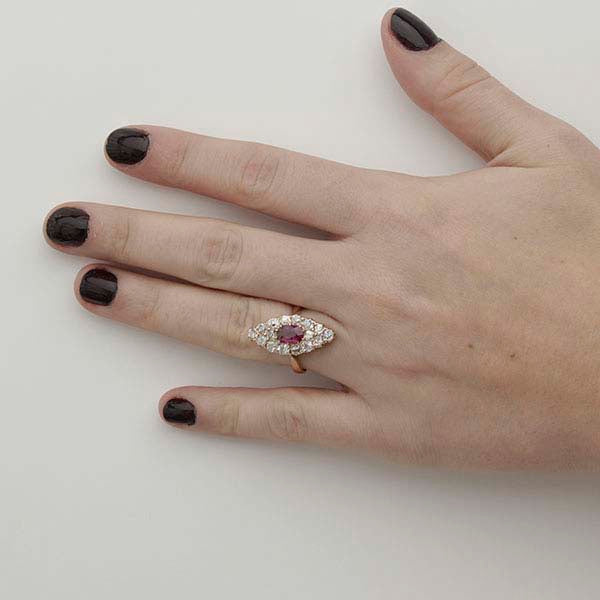 Late Victorian Ruby and Diamond Ring #VR180424-2 - Leigh Jay & Co.