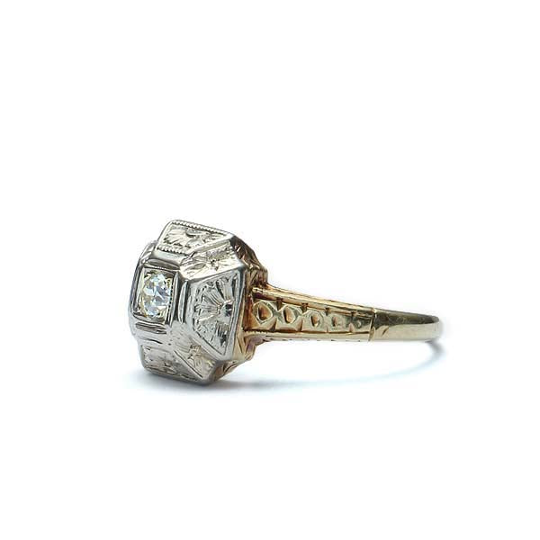 Art Deco Engagement Ring #VR180501-1 - Leigh Jay & Co.