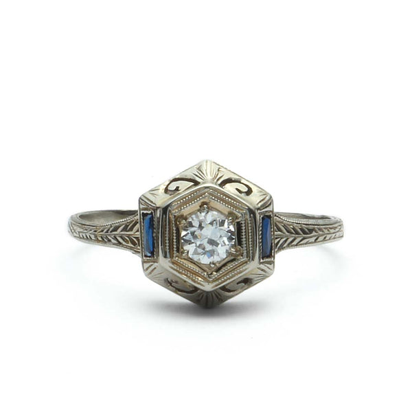 Art Deco Engagement Ring #VR180530-1 - Leigh Jay & Co.