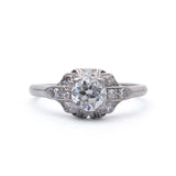 Art Deco Engagement Ring #VR180605-1 - Leigh Jay & Co.