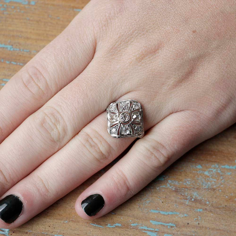 Art Deco Domed Ring #VR180730-10 - Leigh Jay & Co.