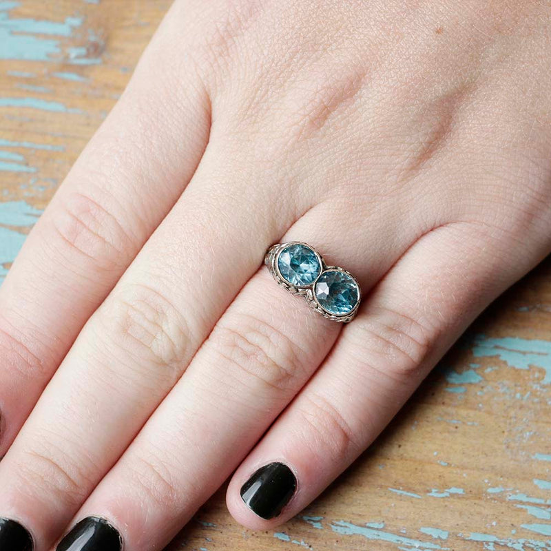 Art Deco Twin Ring #VR180730-11 - Leigh Jay & Co.