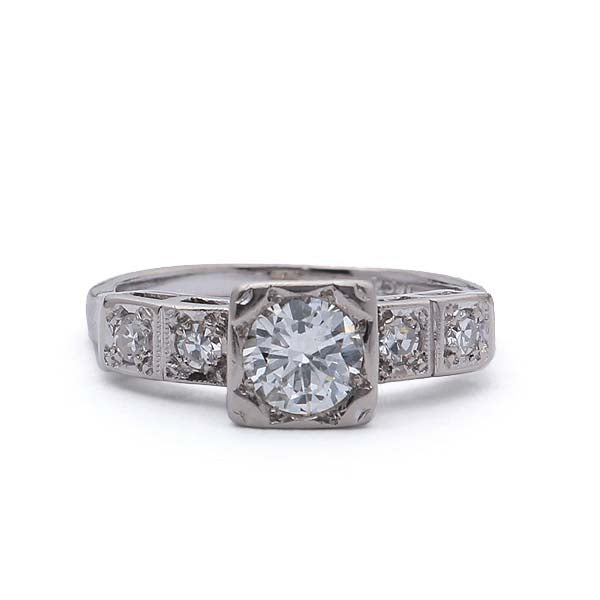 Circa 1950s Engagement Ring #VR180730-14 - Leigh Jay & Co.