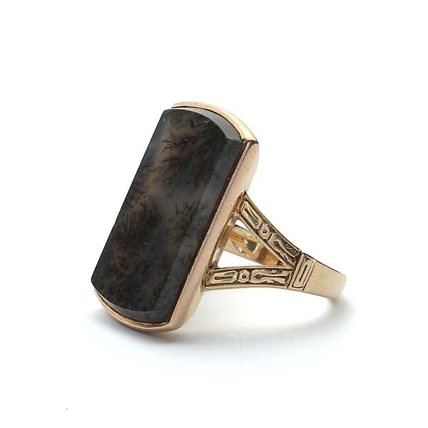 Antique Moss Agate Ring #VR180730-1 - Leigh Jay & Co.