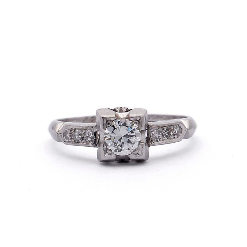 Art Deco 1930s Engagement Ring #VR180730-3 - Leigh Jay & Co.