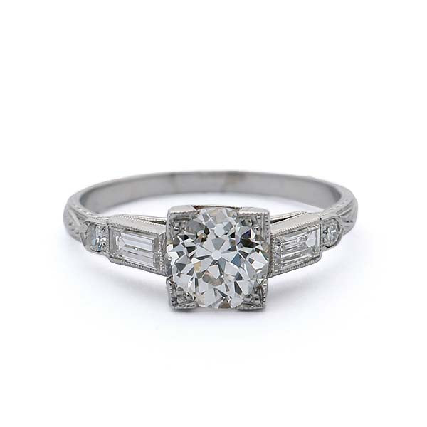 Vintage Art Deco Engagement Ring #VR180807-2