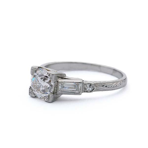 Vintage Art Deco Engagement Ring #VR180807-2 - Leigh Jay & Co.