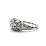 Art Deco Engagement Ring #VR180807-3 - Leigh Jay & Co.