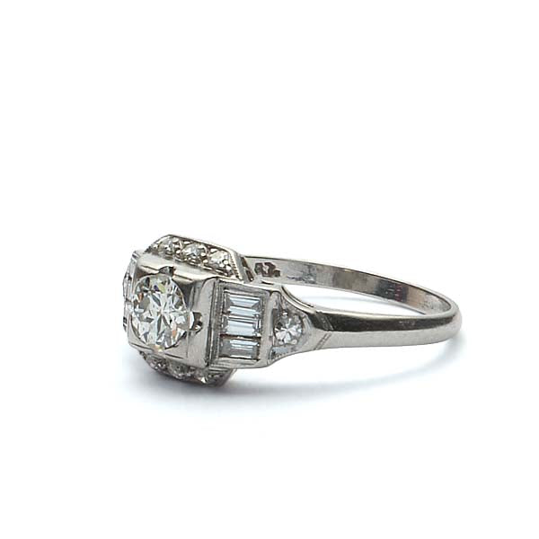 Art Deco 1930s Engagement Ring #VR180807-4 - Leigh Jay & Co.