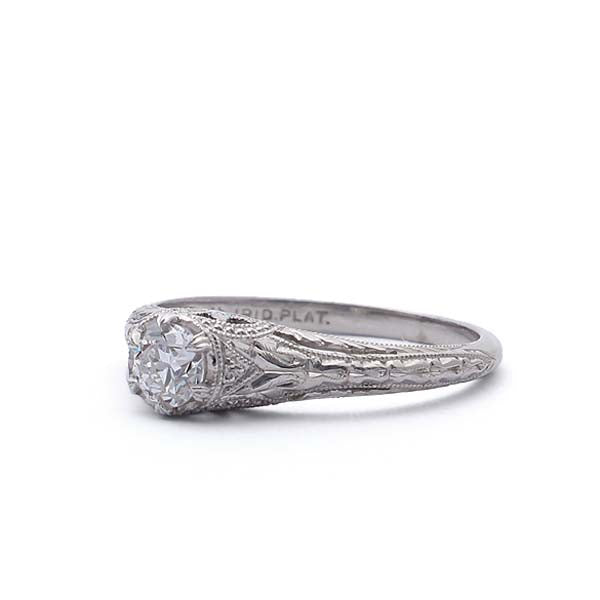 Art Deco Engagement Ring #VR180816-4 - Leigh Jay & Co.