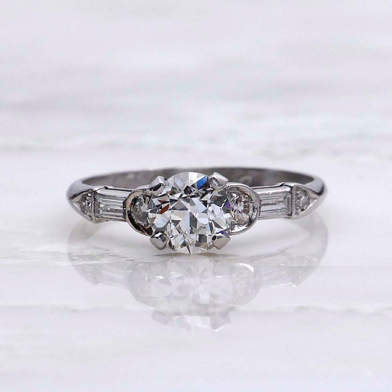 Art Deco Engagement Ring #VR180816-6 - Leigh Jay & Co.