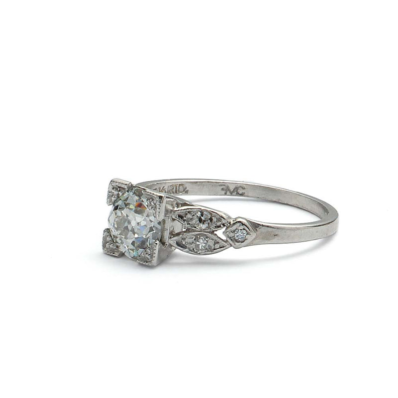 Plat 1930s engagement ring #VR180920-3 - Leigh Jay & Co.