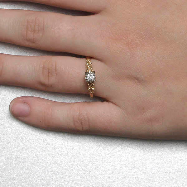 1940s Engagement Ring #VR180921-4 - Leigh Jay & Co.