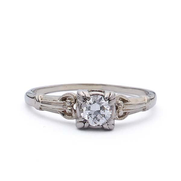 Circa 1940s Engagement Ring #VR181024-1 - Leigh Jay & Co.