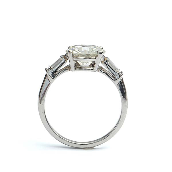 Midcentury Platinum Engagement Ring #VR181101-1 - Leigh Jay & Co.