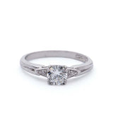 Midcentury Platinum Engagement Ring #VR181105-1 - Leigh Jay & Co.