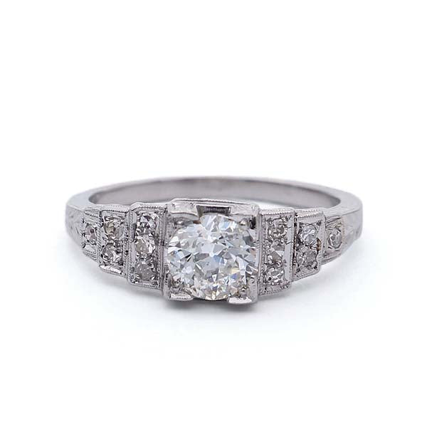 Art Deco Engagement Ring #VR181105-2 - Leigh Jay & Co.