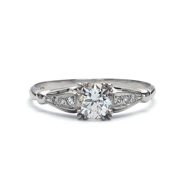 Art Deco Engagement Ring #VR181120-2 - Leigh Jay & Co.