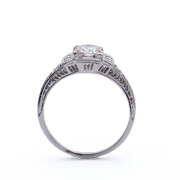 Art Deco Engagement Ring #VR181120-3 - Leigh Jay & Co.