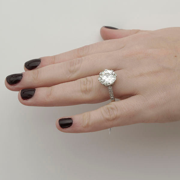 Edwardian Engagement Ring #VR181219-1 - Leigh Jay & Co.