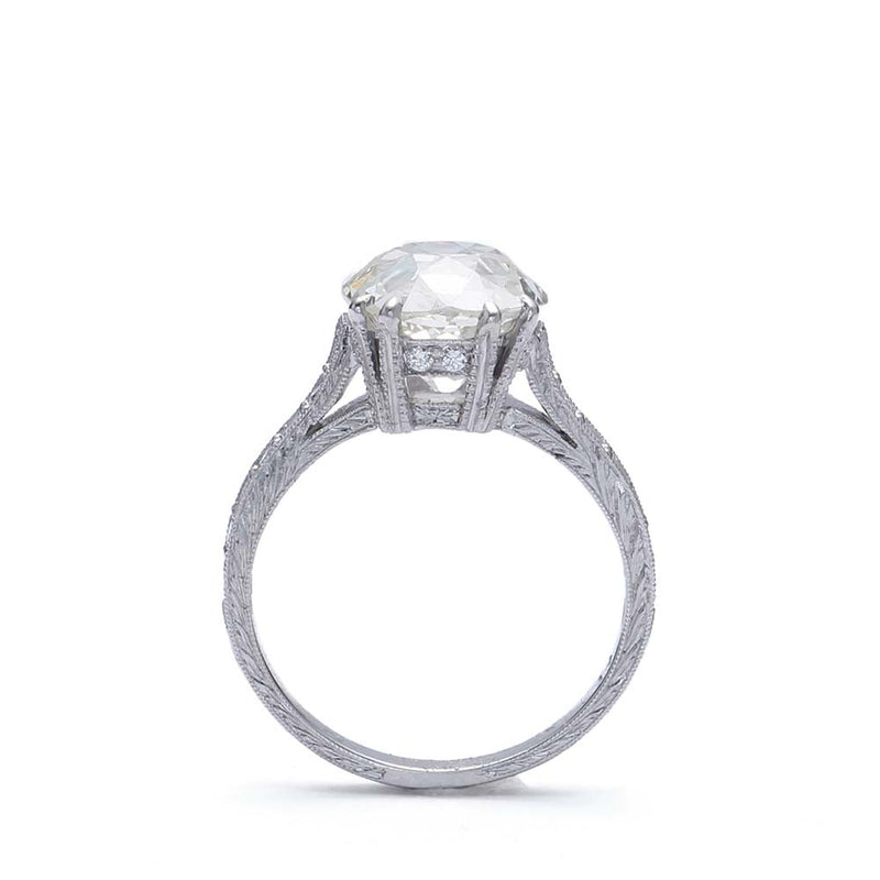 Replica Art Deco Engagement Ring #VR181219-3 - Leigh Jay & Co.