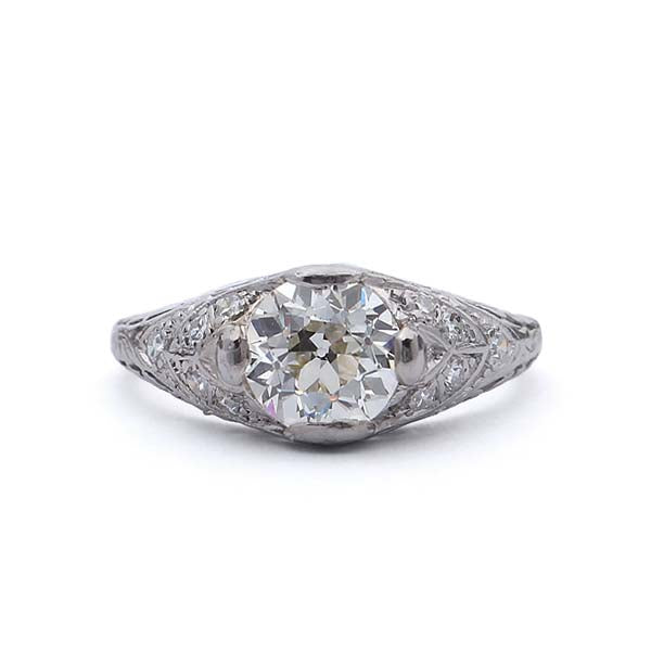 Art Deco Engagement Ring #VR181219-5 - Leigh Jay & Co.
