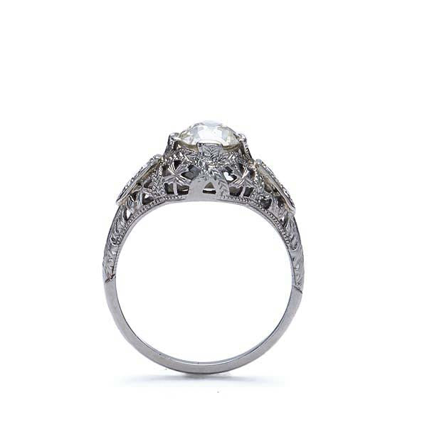 Art Deco Engagement Ring #VR181219-6 - Leigh Jay & Co.