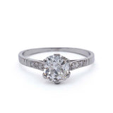 Edwardian Engagement Ring #VR190208-2 - Leigh Jay & Co.