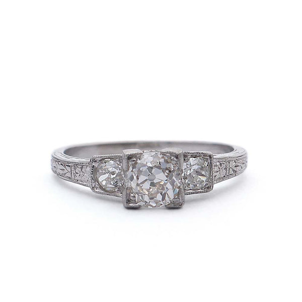 Art Deco Engagement Ring #VR190221-1 - Leigh Jay & Co.