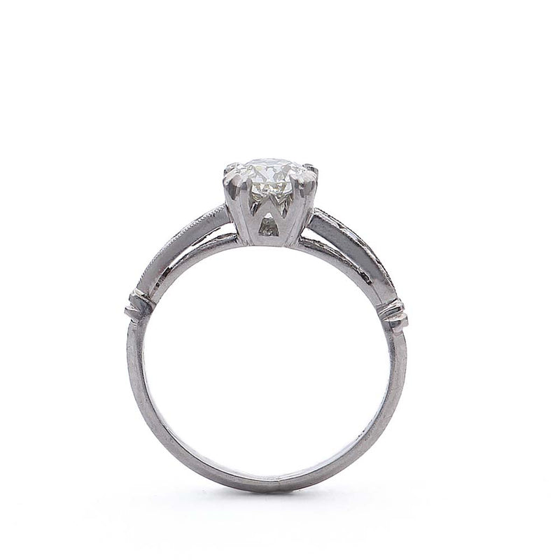 Art Deco Engagement Ring #VR190221-2 - Leigh Jay & Co.