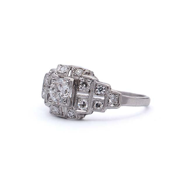 Art Deco Engagement Ring #VR190222-1 - Leigh Jay & Co.