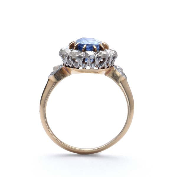 Edwardian Sapphire engagement ring. #VR190226-1 - Leigh Jay & Co.