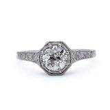 Edwardian Engagement Ring #VR190228-1 - Leigh Jay & Co.