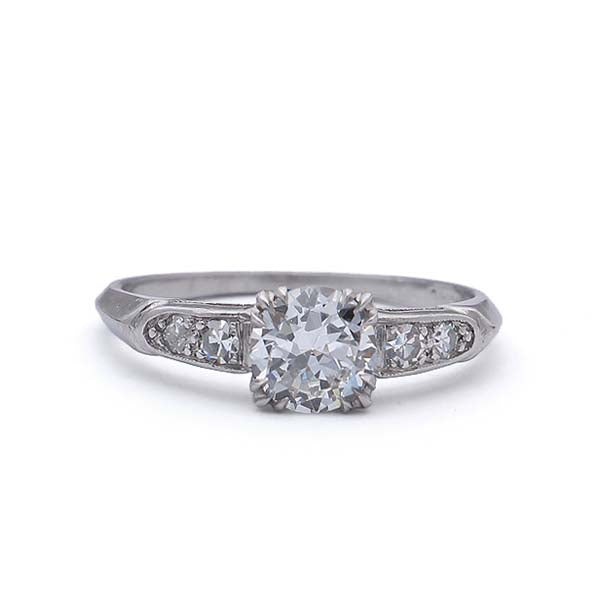Art Deco Engagement Ring #VR190228-2 - Leigh Jay & Co.