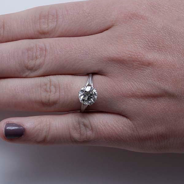 Edwardian Engagement Ring #VR190228-3 - Leigh Jay & Co.